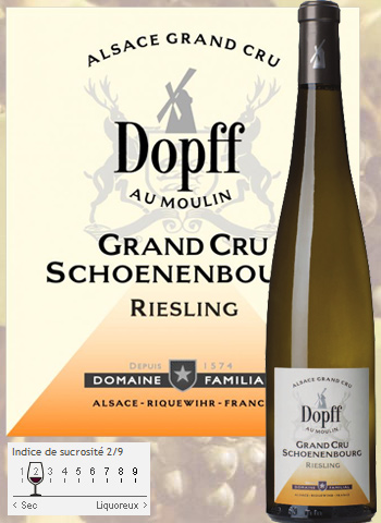 photo Dopff au Moulin Riesling Alsace Grand Cru Vendange Tardive