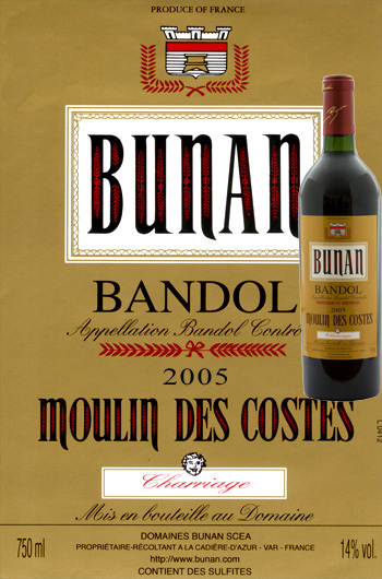 photo vin bandol moulin des costes